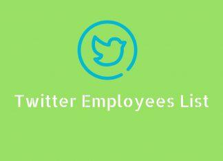 Twitter employees list
