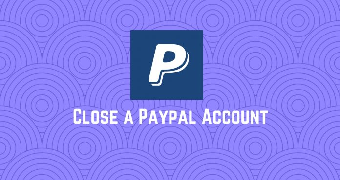 Close paypal account