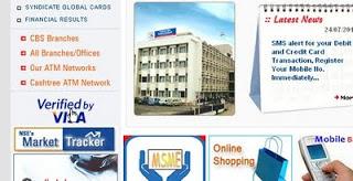 syndicate bank verified by visa