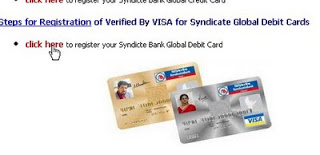 Syndicate bank atm cards