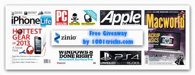 Free Zinio 1 Year Subscription