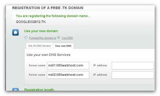 free domain setup