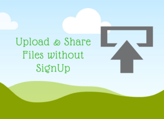 Upload & Share Files without SignUp